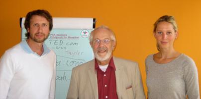 Nikolai und Katharina Hanf-Dressler mit Dr. Rudolf Kaufmann.