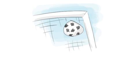 Illustration Fußball im Tor Sporthypnose