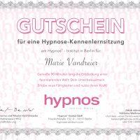 Gutschein HYpnose-Kennenlernsitzung feminin