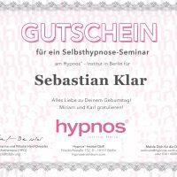 Gutschein Selbsthypnose-Seminar