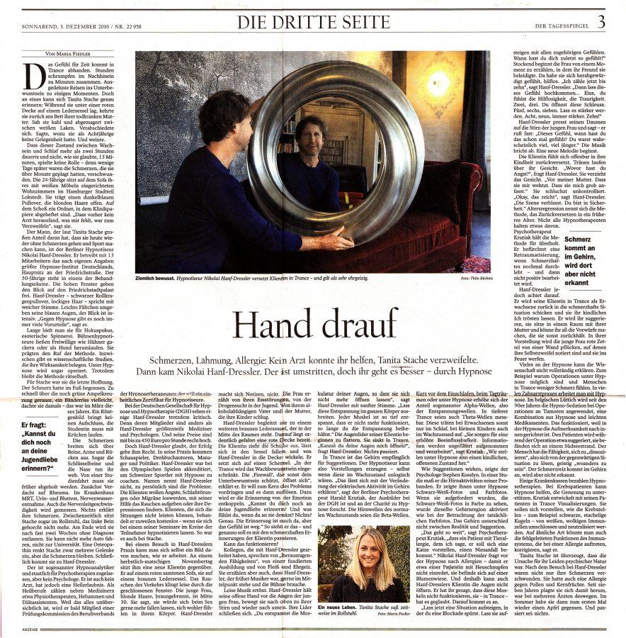 Tagesspiegel-Artikel Nikolai Hanf-Dressler