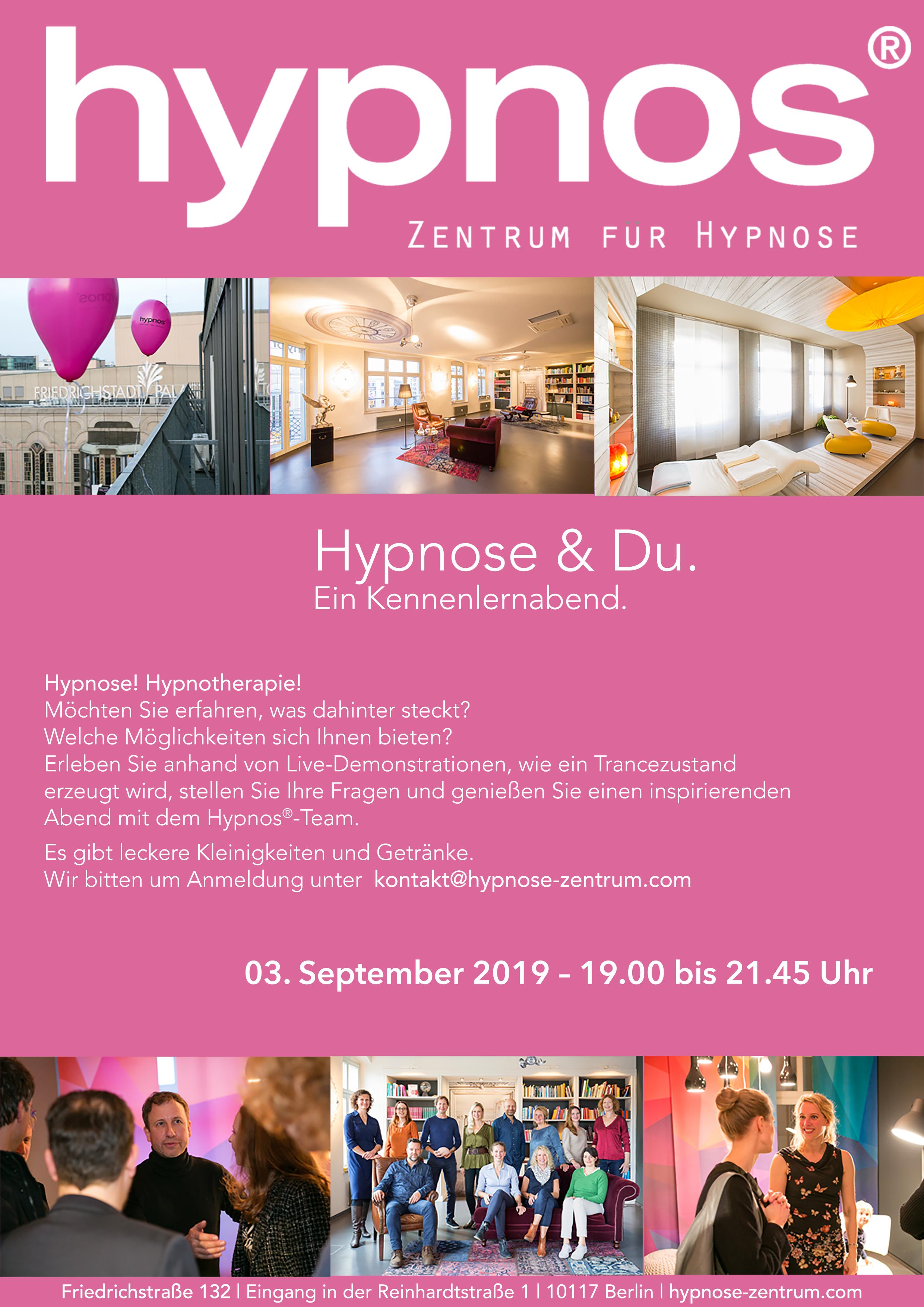 Einladung Kennenlernabend 03.09.19 Hypnos