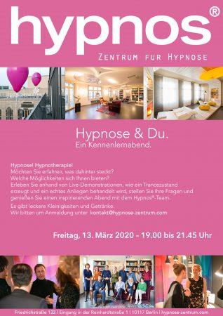 Einladung Kennenlernabend Hypnos 13. März 2020 Berlin